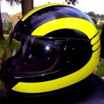 Beautiful motorcycle helmet decals