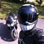 Beautiful motorcycle helmet decals
