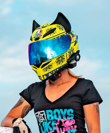 Cat Ear Motorcycle Helmet Accessory