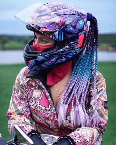 3t sisters helmet hair ponytail pigtail addon