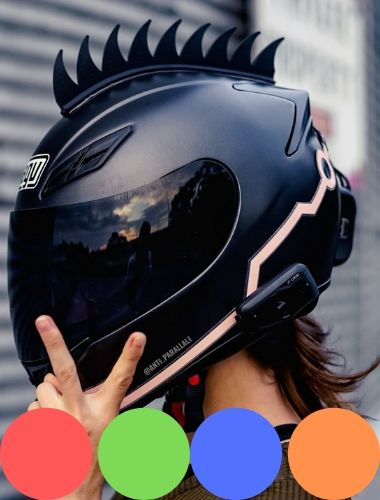 Motorcycle Helmet Mohawk Accessories with Colors