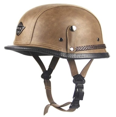WWQY Leather German Vintage Half Motorcycle Helmet Review